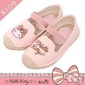 HELLO KITTY X Ann'S親子系列花園小仙子刺繡草編童鞋-粉