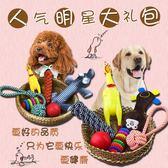 寵物玩具泰迪幼犬金毛大型犬用品毛絨訓練球耐咬磨牙發聲狗狗玩具【快速出貨八折一天】