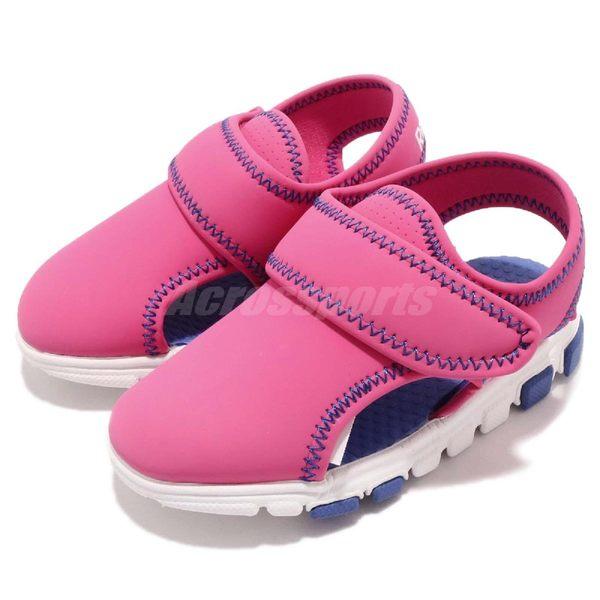 Reebok Wave Glider III 粉紅 藍 涼鞋 魔鬼氈 無鞋帶 童鞋 小童鞋【PUMP306】 CN1597