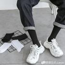 襪子男士長襪黑色長筒純棉底高幫潮流夏天薄款防臭白色襪子女中筒 檸檬衣舍