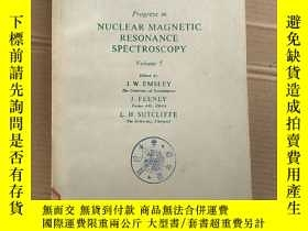 二手書博民逛書店progress罕見in nuclear magnetic resonance spectroscopy volu