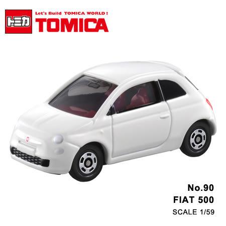 日貨 TOMICA No.90 FIAT 500 飛雅特 真車系列 汽車模型 多美小汽車