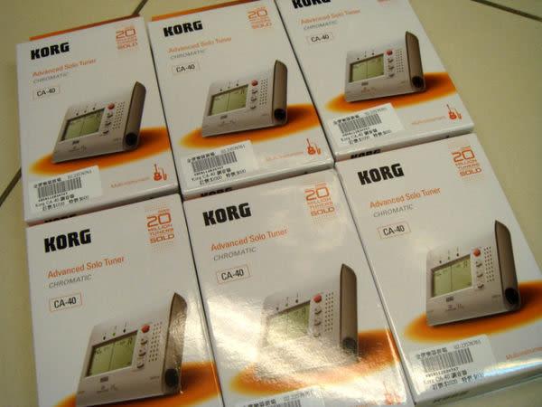 【金聲樂器廣場】全新原裝進口 KORG CA-40 樂器用高靈敏度全頻 調音器