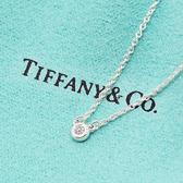 Tiffany&Co.正品 全新 Elsa Peretti經典系列 純淨圓形0.03克拉鑽石純銀項鍊 禮物 情人節 女友