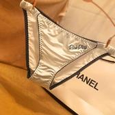 歐美性感蕾絲女士內褲絲滑冰絲綢緞三角褲細膩透氣時尚底褲女 歐歐