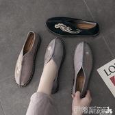 豆豆鞋中國風男鞋唐裝漢鞋秋季新款潮鞋韓版一腳蹬豆豆棉鞋冬 伊蒂斯