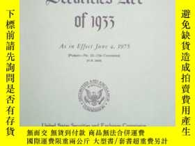 二手書博民逛書店Securities罕見Act of 1933Y176563 S