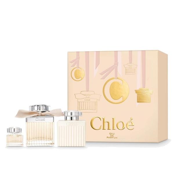 【南紡購物中心】Chloe 同名女性淡香精聖誕禮盒 (淡香精75ml、身體乳100ml、小香5ml)