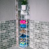 鞋櫃歐式鐵藝鞋架七八層創意多層收納鞋櫃客廳宿舍防塵小鞋架簡易鞋架1件免運