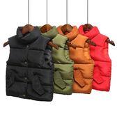 嬰兒秋冬季男童女童寶寶羽絨棉馬甲兒童立領背心加厚保暖外穿潮童【雙12鉅惠】