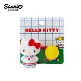 【日本正版】凱蒂貓 復古網球 髮圈 髮束 Hello Kitty 三麗鷗 Sanrio - 382882