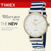 TIMEX 美國第一品牌 Waterbury INDIGLO 夜光指針錶 天美時 帆布 學院風 文青 TW2P91900