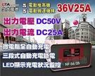 【久大電池】麻聯電機 NF3625 36V 25A 全自動中型電動機械設備專用充電機