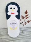正韓-紅色領結企鵝先生/船型襪/韓國襪-B742110