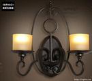INPHIC- 美式鄉村風格臥室牆燈歐式復古走廊玻璃單頭鐵藝蠟燭台壁燈-H款_S197C