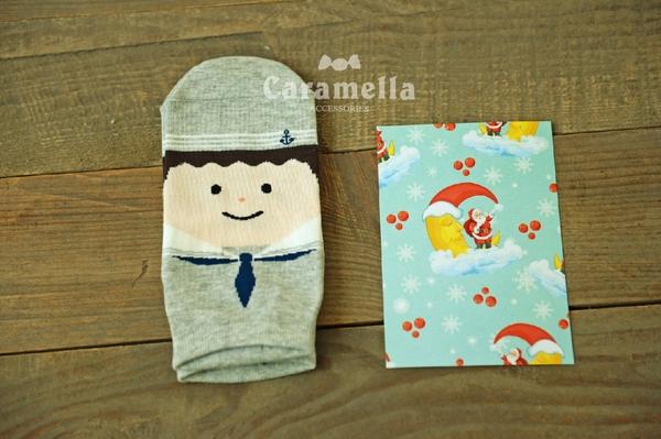(特價出清) 女士船襪 卡通賣萌領帶娃娃 女襪 顏色隨機【AF02111】99愛買小舖