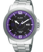 ALBA 雅柏 ACTIVE 大世紀爭霸手錶(VJ42-X008P)-紫
