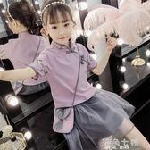 女童套裝漢服超洋氣公主裙子中童裝女孩網紅店古風夏天國民風 海角七號