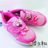 【樂樂童鞋】【台灣製現貨】冰雪奇緣閃燈運動鞋 F007 - 現貨 台灣製 女童鞋 運動鞋 休閒鞋 跑步鞋
