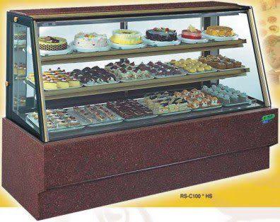 斜玻大理石型 西點蛋糕冷藏櫃【7尺冰櫃】型號:C-107HS