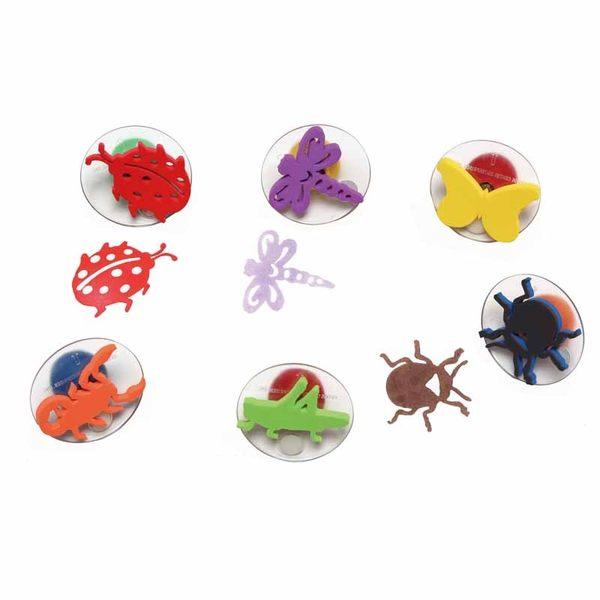 蟲蟲同樂大印章 兒童幼兒教具教學道具彩繪著色畫圖用具親子同樂綜合活動藝術與人文