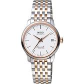 MIDO 美度 Baroncelli III Heritage復刻機械錶-銀x雙色/39mm M0274072201000