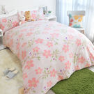 搖粒絨 / 雙人【春印之花】床包兩用毯組...