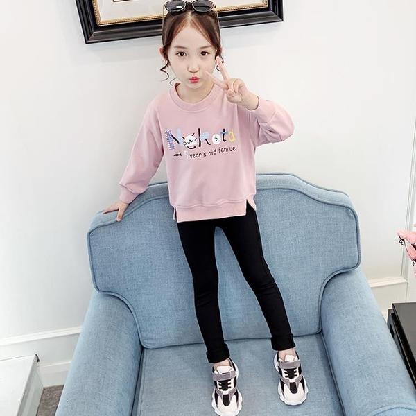 女童T恤2020新款春秋裝中大童長袖體恤兒童正韓秋裝百搭寬鬆上衣