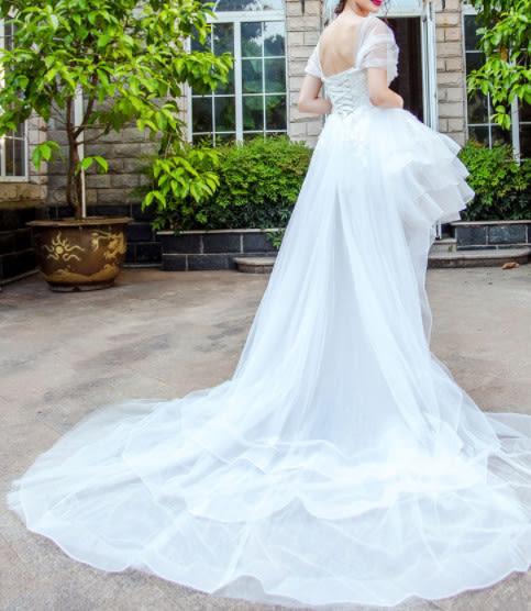 (45 Design)  訂做7天到貨 韓風婚紗禮服 晚宴 顯瘦性感晚宴結婚禮服婚紗 高級訂製短禮服18