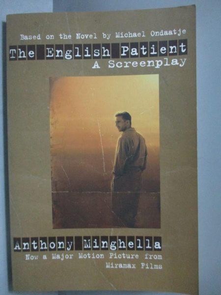 【書寶二手書T5/一般小說_MEM】The English Patient_Anthony