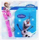 【金玉堂文具】迪士尼DISNEY 冰雪奇緣FROZEN 繽紛吊袋證件套組「藍‧雪寶」迪士尼 Disney (FRDC90-2)