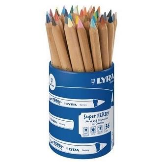 【德國 LYRA】3713360  三角原木色彩鉛筆17.5cm (36支/筆桶裝) /筒