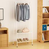 【傢俱+】居家簡約三角力學A字型室掛衣架-附雙層置物衣架/衣帽架質感白