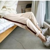 秋冬季休閒衛褲哈倫褲學生大碼加厚針織運動長褲女寬鬆九分小腳褲