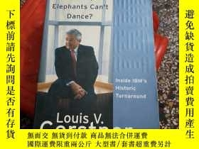 二手書博民逛書店英文原版罕見Who Says Elephants Cant Da
