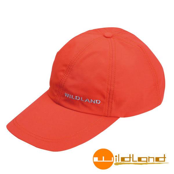 Wildland荒野 W1013-76亮橘色 中性 抗UV透氣棒球帽/防曬/遮陽/踏青/郊遊/MIT/休閒帽/工作帽