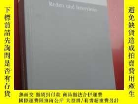 二手書博民逛書店Reden罕見Interviews (BAND 41) 德文原版