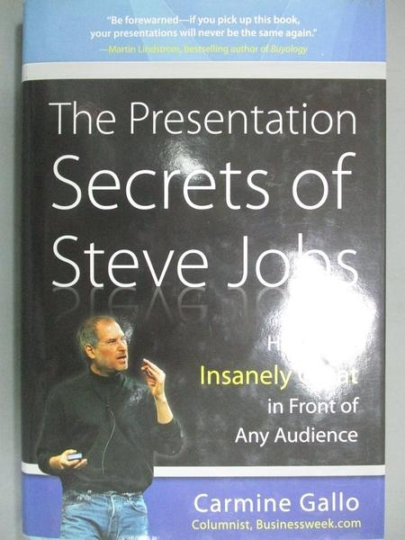 【書寶二手書T3/財經企管_LFK】The Presentation Secrets of Steve Jobs_Car