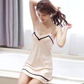 吊帶睡衣女夏季性感V領睡裙絲綢修身中長吊帶裙絲質睡衣薄款 LH1620【3C環球數位館】