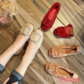 單鞋L小皮鞋I軟底平底舒適防滑單鞋女輕便蛋捲鞋豆豆鞋女孕婦鞋
