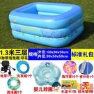 兒童游泳池家用充氣幼兒童加厚保溫可折疊浴缸寵物室內洗澡桶【淘嘟嘟】