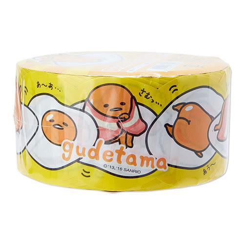 《Sanrio》蛋黃哥花邊裝飾寬版造型紙膠帶(慵懶生活)★funbox生活用品★_388521