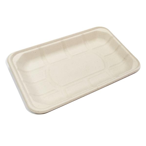 【點秋香】植纖食器10吋長方盤 (5入)