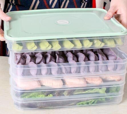 餃子盒 餃子盒凍餃子家用冰箱速凍水餃盒餛飩專用雞蛋保鮮收納盒多層托盤【快速出貨八折鉅惠】