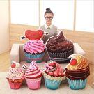 創意仿真3D冰淇淋杯子蛋糕抱枕沙發枕/睡枕/枕頭 聖誕禮物 情人禮物生日禮物50cm現+預