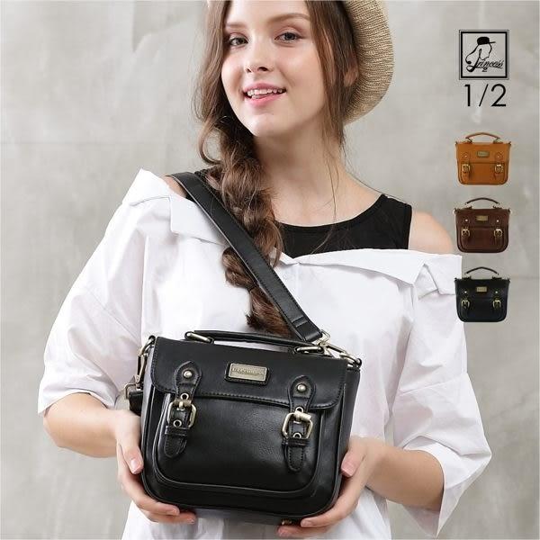 斜背包1/2princess二代復古皮革品牌經典劍橋mini 2用包-3色 [A2708]