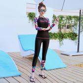 雙12盛宴 潛水服女分體韓國水母浮潛服長袖長褲沖浪套裝泳衣學生溫泉漂流衣