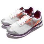 【五折特賣】Reebok 慢跑鞋 Zstrike Run 白 灰 紫 透氣 馬拉松 運動鞋 女鞋【PUMP306】 V72076