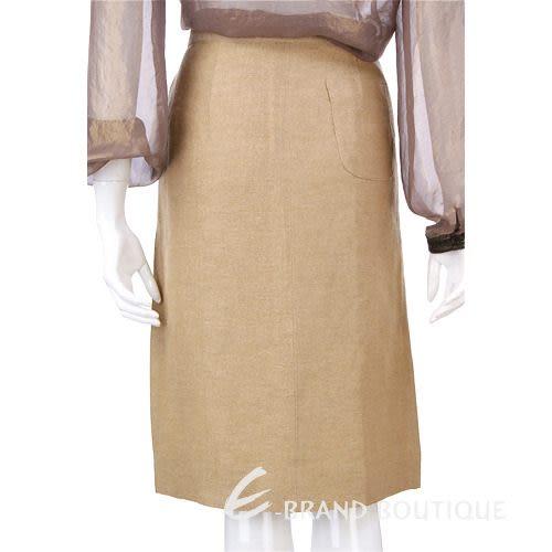 Lorella Braglia 駝金色不對稱設計及膝裙 0510473-24