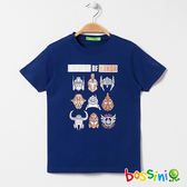 印花短袖T恤04淺綠松-bossini男童